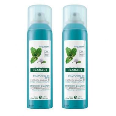 Klorane szampon suchy MIĘTA 150 ml x2